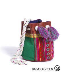 Beach Bag Bagoo Green - Amenapih - Brazilian Bikini Shop #brazilianbikinishop #BBSFashion #amenapih