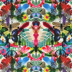 """Christian Lacroix for Designers Guild """"Caribe"""" in Perroquet Designers Guild, More Wallpaper, Fabric Wallpaper, Wallpaper Backgrounds, Tropical Wallpaper, Wallpapers, Christian Lacroix Wallpaper, Textures Patterns, Print Patterns"""