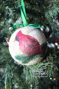 Twelve Balls of Christmas! Day 12: Painted decoupage with Smoothfoam