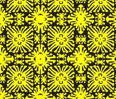 daisy doll black fabric by nascustomwallcoverings on Spoonflower - custom fabric