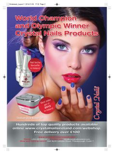 Crystal Nails Olympic Winners, Nail Products, Crystal Nails, Nails Magazine, You Nailed It, Crystals, Crystal, Crystals Minerals
