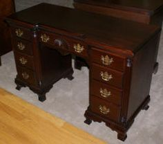 Solid Mahogany Kling Furniture Company Antique Desk
