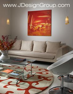 Red-Orange Living Room