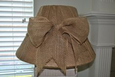 Burlap Lampshade by mytexascottage on Etsy, $26.00