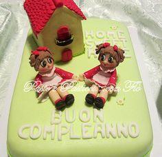 "Torta "" bamboline gemelle """