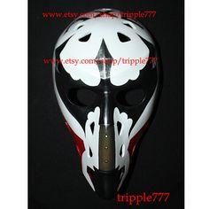 RARE custom vintage style fiberglass NHL air ice hockey goalie mask helmet - Gary Smith HO104