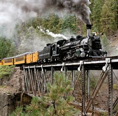 """High Bridge"" Narrow Gauge Train, Silverton Colorado"