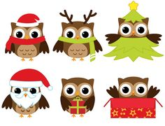 owls christmas clip art
