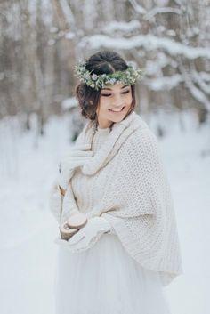 winter bride зимний образ невесты