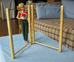 Barbie Folding Clothes Rack/Display Rack by StillpointWoodworks