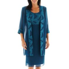 Dana Kay Glitter Dress with Duster Coat   found at @JCPenney