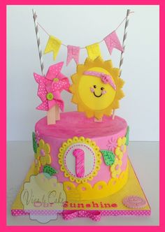 You are my Sunshine cake kit and topper summer by vivalacakeshop, $45.00
