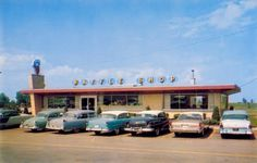 Sauzer's Waffle Shop, Schererville, Indiana [postcard image on Panoramio from ForwardLook]