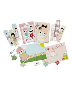 Look what I found on #zulily! Les Petites Coloring Book, Paper Dolls & Bookmark Set #zulilyfinds