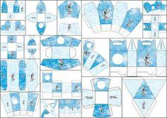 Olaf: Free Printable Boxes.