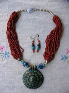 My old Tibetan necklace set. Gave this away to Karen H.