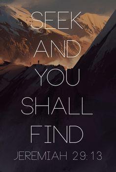 Seek and you shall find #faith