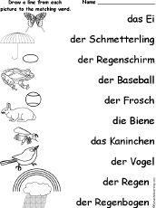 school worksheet german german worksheets for children deutsch f r kinder arbeitsbl tter. Black Bedroom Furniture Sets. Home Design Ideas