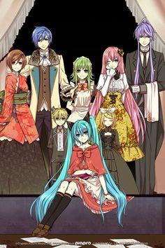 Vocaloid - Bad End Night Vocaloid Ia, Vocaloid Funny, Miku Chan, Manga Anime, Comic Manga, Fanarts Anime, Anime Art, Gakupo Kamui, Kaito Shion