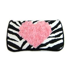 Black zebra with pink chiffon heart baby wipes case. Are you in love with your little one? Our new LOVE collection is unique! You can choose from any of our different prints. A gorgeous and fluffy chiffon Heart in the middle of the wipes case, makes this the perfect gift! Get it in the travel size for your diaper bag on the go, or for your baby's nursery. Coordinating accessories shown here are not included.
