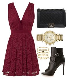 """""""Untitled #80"""" by victorine-b ❤ liked on Polyvore featuring Free People, Yves Saint Laurent, Accessorize, Chanel and Michael Kors"""