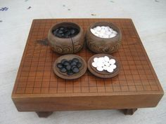 Japanese Go Goban IGO Game wooden table stone stones japan wooden case F Wooden Board Games, Board Game Table, Wood Games, Table Games, Game Boards, Wooden Case, Wooden Toys, Go Board, Atlanta Art