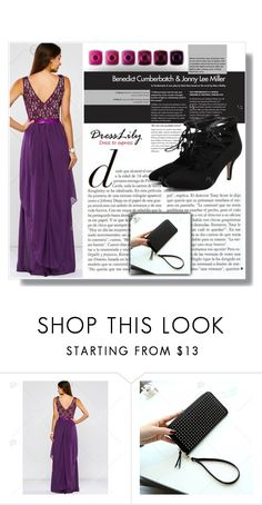 """""""Shades of Violet"""" by amra-sarajlic ❤ liked on Polyvore featuring dresslily"""