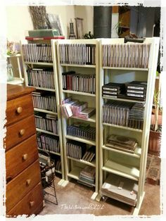 Sizzix and small Accucut die storage on dvd racks!