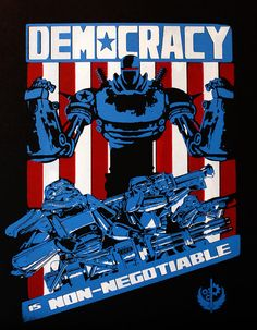 Liberty Prime Screen Print Poster by PackardPrints on Etsy, $25.00