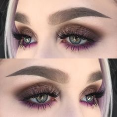 "154 Likes, 1 Comments - @helenesjostedt on Instagram: ""I used @katvondbeauty eyeshadows suede, oak, synergy, ribbon and glitz from the metal matte palette…"""