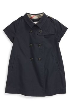 Burberry 'Abbie' Short Sleeve Trench Dress (Baby Girls) available at #Nordstrom