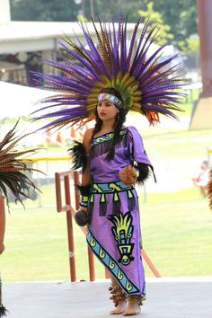 Festival of Native Peoples: Traditional dance and performance of indigenous peoples of the Americas; held in Cherokee NC, July 2013. Photo of Lovely Aztec Dancer.