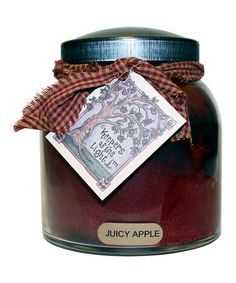 Look what I found on #zulily! Juicy Apple Black Lid Papa Jar Candle #zulilyfinds