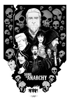 Sons of Anarchy Retro Poster Sons Of Anarchy Tattoos, Sons Of Anarchy Samcro, Sons Of Arnachy, Motorcycle Art, Line Art, Comic Art, Creations, Nerd, Art Drawings