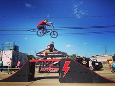 Had an awesome time announcing at the bmx show on Sunday! Here's @mikey_likes_bikes jumping over me!  #danscomp #danscompinstagram #bmx #fun