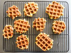 Waffled Mashed Potatoes With Bacon, Scallion, and Cheddar