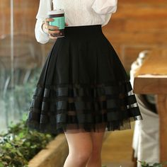 new deals! Shop our best value Black Organza Skirt on AliExpress. Check out more Black Organza Skirt items in Women's Clothing, Home & Garden, Weddings & Events, Novelty & Special Use! And don't miss out on limited deals on Black Organza Skirt! Teen Fashion Outfits, Girl Fashion, Fashion Dresses, Fashion Design, Female Fashion, Cute Skirts, Cute Dresses, Denim Skirts, Short Skirts