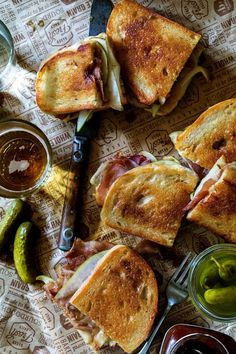Prosciutto and Gruyère Grilled Cheese With Apple Cranberry Chutney [630 945]