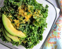 Must try this 4-ingredient kale salad #gf #vegan