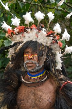 http://nadlerphotography.com/archivespapua-new-guinea Participant in Highland Huli SingSing