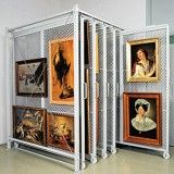 Art of Storage for Your Private Collection with Montel's Shelving and Racking Systems for Paintings, Photos, Sculptures and Other Art Works.