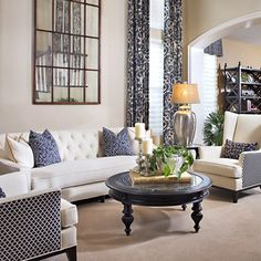 How to Decorate a Blue and White Living Room - Right, Now | Wayfair