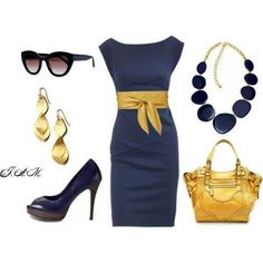 Blue & Gold Outfit...