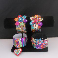 How Lovely Maria! Fiesta Fun with Cuff Bracelets made of Friendly Plastic Plastic Art, Shrink Plastic, San Antonio, Bracelet Making, Jewelry Making, Art Projects, Projects To Try, Cuff Bracelets, Bangles