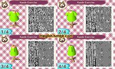 Kaede's exercise shirt from Aikatsu! - Animal Crossing pattern #acnl #aikatsu
