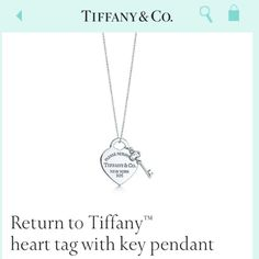 Tiffany and Co. Necklace. I want this too...
