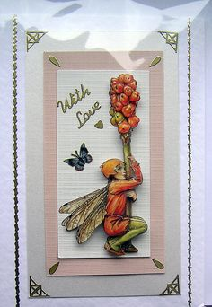 Sorrel Fairy HandCrafted 3D Decoupage Card  With by SunnyCrystals, £1.75