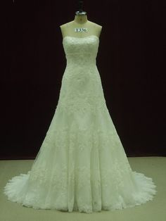 Gorgeous Custom Made Wedding Dress with Beaded French Lace