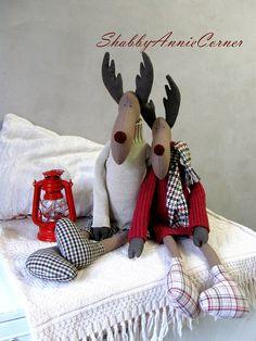 Christmas deer toy Christmas moose toy Christmas decor Stuffed