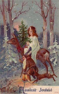Christmas in finland 69 parasta kuvaa pinterestiss winter vintage finnish christmas card nordic thoughts joulutervehdykset joulu taidetta vintage koristeet m4hsunfo